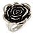Burn Silver 'Rosebud' Ring