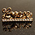 Gold Plated Double Finger Diamante 'Love' Ring - Size 7&8 - view 9