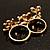 Gold Plated Double Finger Diamante 'Love' Ring - Size 7&8 - view 4