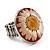 Silver Tone Daisy Flex Ring - Size 7/9 - view 8