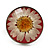 Silver Tone Daisy Flex Ring - Size 7/9 - view 3