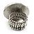 Silver Tone Daisy Flex Ring - Size 7/9 - view 5