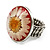 Silver Tone Daisy Flex Ring - Size 7/9 - view 10