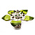 Stunning Green Enamel Crystal Flower Flex Ring (Silver Tone Metal) - Size 7/8 - view 12