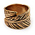 Burn Gold 'Leaf' Wrap Band Ring