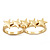 Gold Plated Double Finger 'Five Star' Ring - Size 7&8 - view 11