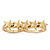 Gold Plated Double Finger 'Five Star' Ring - Size 7&8 - view 12