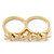 Gold Plated Double Finger 'Five Star' Ring - Size 7&8 - view 4