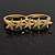 Gold Plated Double Finger 'Five Star' Ring - Size 7&8 - view 7