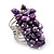 Wide Chunky Purple Freshwater Pearl Ring (Silver Plated Metal) - view 6