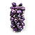 Wide Chunky Purple Freshwater Pearl Ring (Silver Plated Metal) - view 3