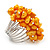 Wide Chunky Orange Freshwater Pearl Ring (Silver Plated Metal) - view 5