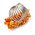 Wide Chunky Orange Freshwater Pearl Ring (Silver Plated Metal) - view 6