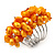 Wide Chunky Orange Freshwater Pearl Ring (Silver Plated Metal) - view 1