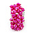 Wide Chunky Fuchsia Freshwater Pearl Ring (Silver Plated Metal) - view 4