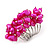Wide Chunky Fuchsia Freshwater Pearl Ring (Silver Plated Metal) - view 2