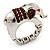 Rhodium Plated Diamante Elephant Stretch Ring