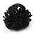 Large Black Glass Bead Flower Stretch Ring - view 5