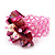 Pink Shell Chip & Freshwater Pearl Cluster Flex Ring - view 3