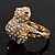 Swarovski Crystal 'Frog' Ring In Gold Plated Metal - view 4