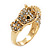 Gold Plated Crystal 'Horse' Ring - view 6