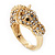 Gold Plated Crystal 'Horse' Ring - view 9