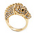 Gold Plated Crystal 'Horse' Ring - view 10
