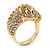 Gold Plated Crystal 'Horse' Ring - view 4
