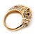 Gold Plated Crystal 'Horse' Ring - view 7