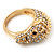 Gold Plated Crystal 'Horse' Ring - view 8