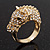 Gold Plated Crystal 'Horse' Ring - view 11