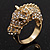 Gold Plated Crystal 'Horse' Ring - view 5