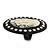 Large Simulated Pearl 'Cameo Ladies' Cocktail Ring In Black Tone Metal (Adjustable) - 5.5cm Length - view 5