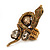 Stunning Swarovski Crystal Snake Stretch Ring In Burn Gold Metal (6cm Length)- 7/9 Size - view 5
