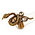 Stunning Swarovski Crystal Snake Stretch Ring In Burn Gold Metal (6cm Length)- 7/9 Size - view 2
