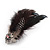 Oversized Black/White Feather 'Owl' Stretch Ring In Gold Plating - Adjustable - 13cm Length - view 8