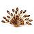 Stunning Citrine/ Amber Coloured Swarovski Crystal 'Peacock' Flex Ring In Gold Metal - 7.5cm Length (Size 7/8)