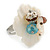 White Mother of Pearls/Multicoloured Crystal 'Flower' Ring In Silver Plating - Adjustable (Size 7/9) - 3cm Diameter - view 10