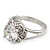 Rhodium Plated Split Shank Round Cut CZ Crystal 'Meret' Solitaire Ring - 8mm length - view 9