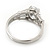 Rhodium Plated Oval Cut CZ Crystal 'Isis' Solitaire Ring - 10mm length - view 5