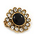 'Diva Blossom' Crystal and Ceramic Flower Ring in Gold Tone - Adjustable size 7/8 - view 6