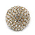 Statement Pave-Set Crystal, Blue Enamel 'Ball' Flex Ring In Gold Plating - 25mm Across - Size 7/8 - view 5