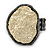 Two Tone Off-Round, Textured Flex Ring (Gunmetal/ Gold Tone) - 37mm Across - Size 7/8 - view 4