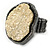 Two Tone Off-Round, Textured Flex Ring (Gunmetal/ Gold Tone) - 37mm Across - Size 7/8 - view 6