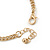 Gold Plated Oval Link Chain Bracelet With Black Acrylic Heart Flex Ring Attached - 17cm Length/ 3cm Extension, Size 7/8 - view 6