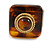 Square Resin 'Animal Print' Flex Ring In Burn Gold Metal - 25mm Across - Size 7/9 - view 8