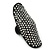 Large Pave Set Clear Swarovski Crystal 'Shield' Flex Ring In Black Tone - 6cm Length - Size 8/9