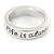 Silver Plated 'Life is always better with a smile' Engraved Ring - Size 8 - view 3