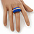 Blue Enamel Dome Shaped Stretch Cocktail Ring In Gold Plating - 2cm Length - Size 7/8 - view 6