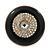 Large Black Enamel, Diamante 'Button' Flex Ring In Gold Plating - 35mm Diameter - Size 7/8 - view 3